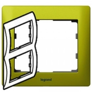 Рамка Legrand Galea life двухместная вертикальная (зеленый)