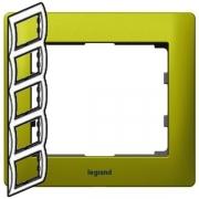 Рамка Legrand Galea life пятиместная вертикальная (зеленый)
