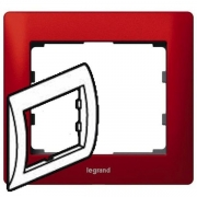 Рамка Legrand Galea life одноместная (красный)