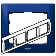 Рамка Legrand Galea life четырехместная горизонтальная (синий)