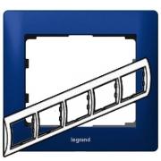 Рамка Legrand Galea life пятиместная горизонтальная (синий)