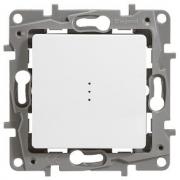 Выключатель-переключатель Etika Plus одноклавишный с подсветкой (белая)