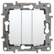 Выключатель трехклавишный Etika Plus (белая)