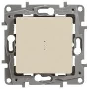 Выключатель-переключатель Etika Plus одноклавишный с подсветкой (слоновая кость)