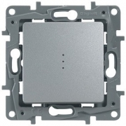 Выключатель-переключатель с подсветкой Etika Plus (алюминий)