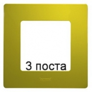 Рамка 3-ая Legrand Etika (зеленый папоротник)