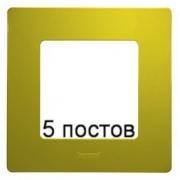 Рамка 5-ая Legrand Etika (зеленый папоротник)