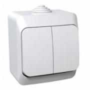 ЭТЮД Выключатель 2кл наружный IP44 белый