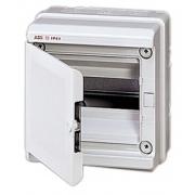 Бокс настенный ABB Europa 8 мод. серый с серой дверцей IP65