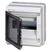 Бокс настенный ABB Europa 4 мод. серый с прозрачной дверцей IP65