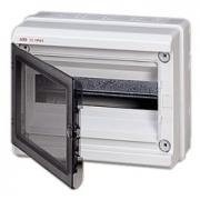 Бокс настенный ABB Europa 12 мод. серый с прозрачной дверцей IP65
