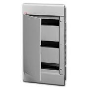 Бокс встраиваемый ABB Europa 36 мод. серый с серой дверцей IP40