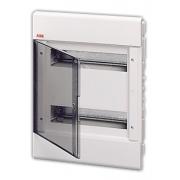 Бокс встраиваемый ABB Europa 24 мод. белый с прозрачной дверцей IP40