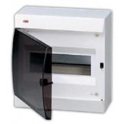 ABB Unibox Бокс настенный 8 мод. белый с прозрачной дверцей IP41
