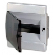 ABB Unibox Бокс встраиваемый 8 мод. белый с прозрачной дверцей IP40
