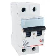 Автоматический выключатель Legrand TX3 C20A 2п 6000