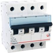 Автоматический выключатель Legrand TX3 C16A 4п 6000