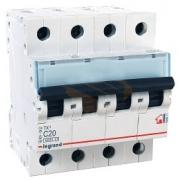 Автоматический выключатель Legrand TX3 C20A 4п 6000
