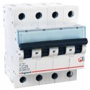 Автоматический выключатель Legrand TX3 C25A 4п 6000