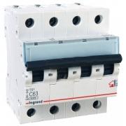 Автоматический выключатель Legrand TX3 C63A 4п 6000