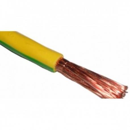 Провод силовой ПВ3 1х4 желто-зеленый