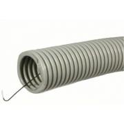 Труба гофрированная ПВХ D20мм с протяжкой (100м)