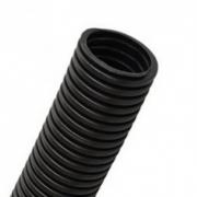 Труба гофрированная ПНД d25мм с протяжкой, черная (50м)