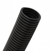 Труба гофрированная ПНД d40мм с протяжкой, черная (25м)