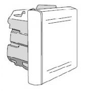 Выключатель DKC Viva однополюсный, 2 модуля