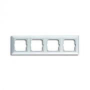 Рамка четырехместная ABB Basic 55 альпийский белый