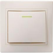 ВС10-1-1-ККм Выключатель 1кл с инд. 10А КВАРТА (кремовый)