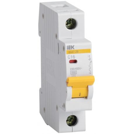 IEK Автоматический выключатель ВА47-29 1Р 16А 4,5кА х-ка С