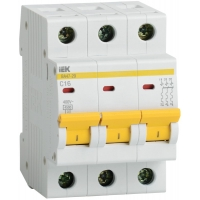 IEK Автоматический выключатель ВА47-29 3Р 6А 4,5кА х-ка С