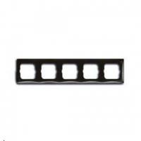 Рамка пятиместная ABB Basic 55, цвет шато-черный