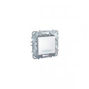 Выключатель одноклавишный с подсветкой, 10 А / 250 В~ белый