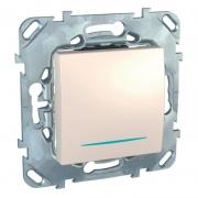 Выключатель одноклавишный с подсветкой, универс. (вкл/выкл с 2-х мест) 10 А / 250 В~