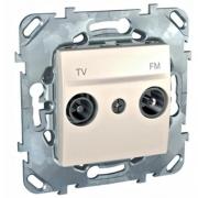 Розетка телевизионная оконечная TV FM, диапазон частот от 4 до 2400 MГц