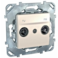 Розетка телевизионная проходная TV FM, диапазон частот от 4 до 2400 MГц