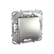Выключатель одноклавишный с подсветкой, 10А/250В~