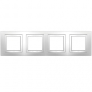 Рамка 4-я Unica Белый