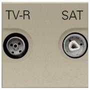 Розетка TV-R/SAT проходная ZENIT (шампань)