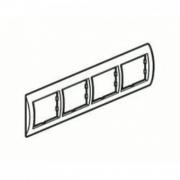 Рамка 4-я Unica Белый/Кремовый