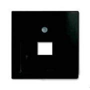 Розетка телефонная (RJ-11/12) 1 разъем ABB Basic 55, шато-черный