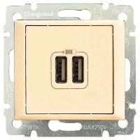 Розетка USB Двойная Legrand Valena (Сл. Кость)