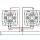 Проходной одноклавишный переключатель влагозащищенный IP-44 Legrand Valena (Белый)