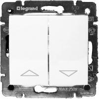 Клавишный механизм управления рольставнями Legrand Valena (Белый)