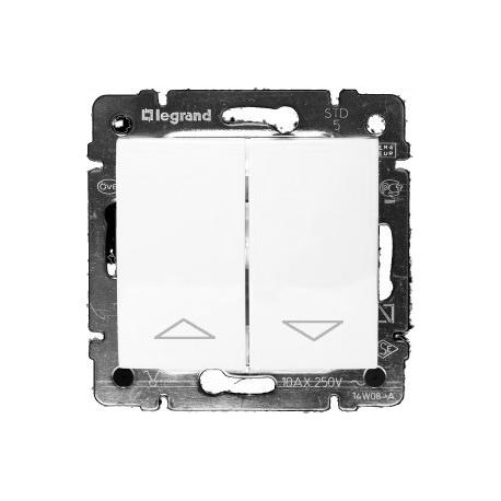 Кнопочный механизм управления рольставнями Legrand Valena (Белая)