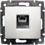 Розетка для компьютерных сетей RJ-45 UTP CAT5E одинарная Legrand Valena (Алюминий)