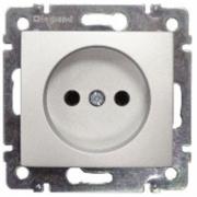 Розетка электрическая, 220 В,без заземления 16А Legrand Valena (Алюминий)
