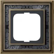 Рамка ABB Dynasty одноместная (латунь античная, черная роспись)